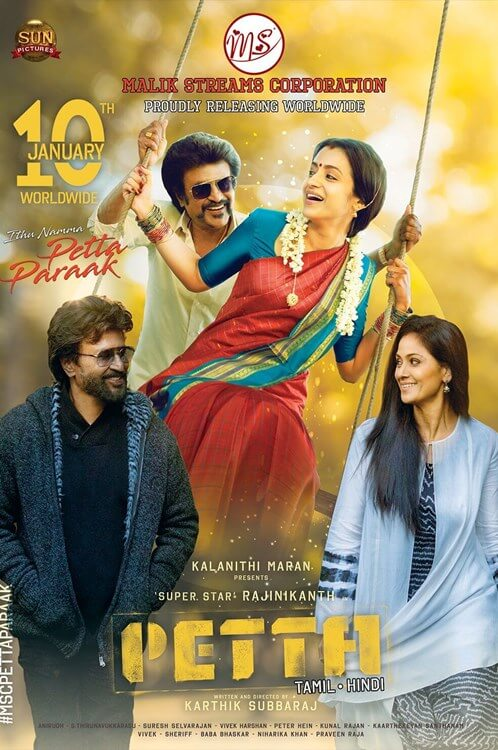 Petta (2019) Hindi PreDVDRip MP3 700MB MKV