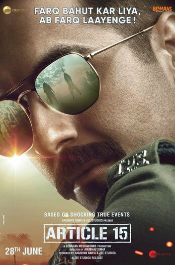 Article 15 Movie Poster