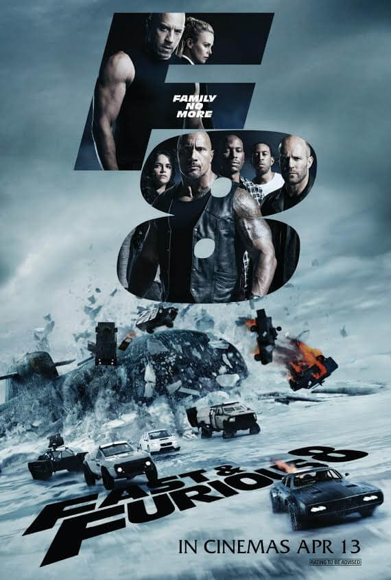 Fast And Furious 8 Movie Poster