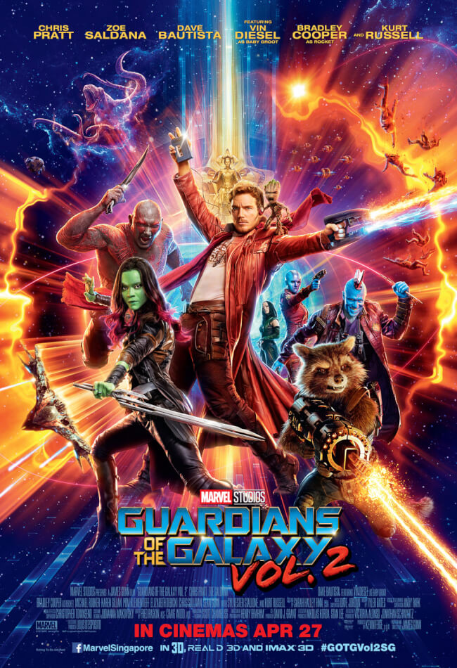 Marvel's Guardians Of The Galaxy Vol.2 Movie Poster