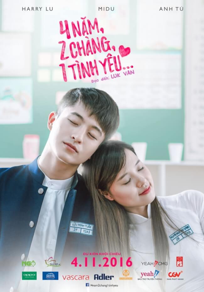 4 NAM 2 CHANG 1 TINH YEU Movie Poster