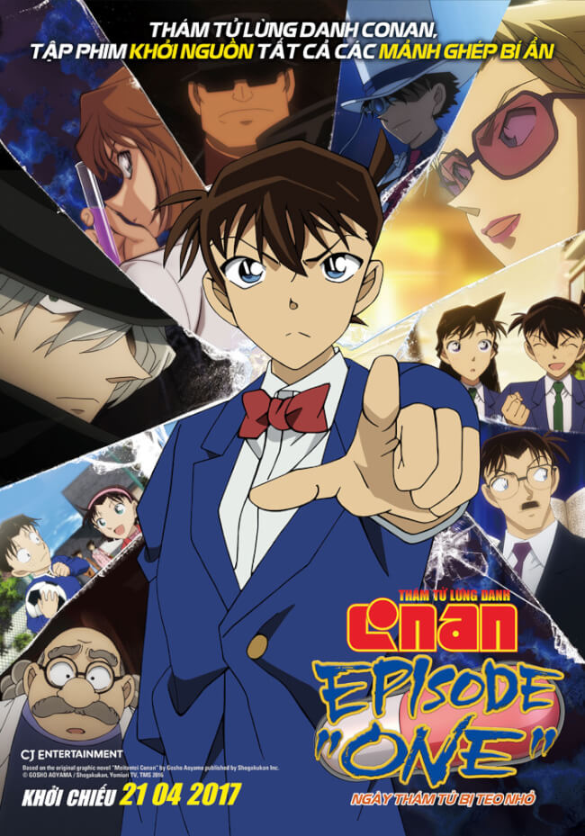 "DETECTIVE CONAN - EPISODE ""ONE"": THE GREAT DETECTIVE TURNED SMALL Movie Poster"